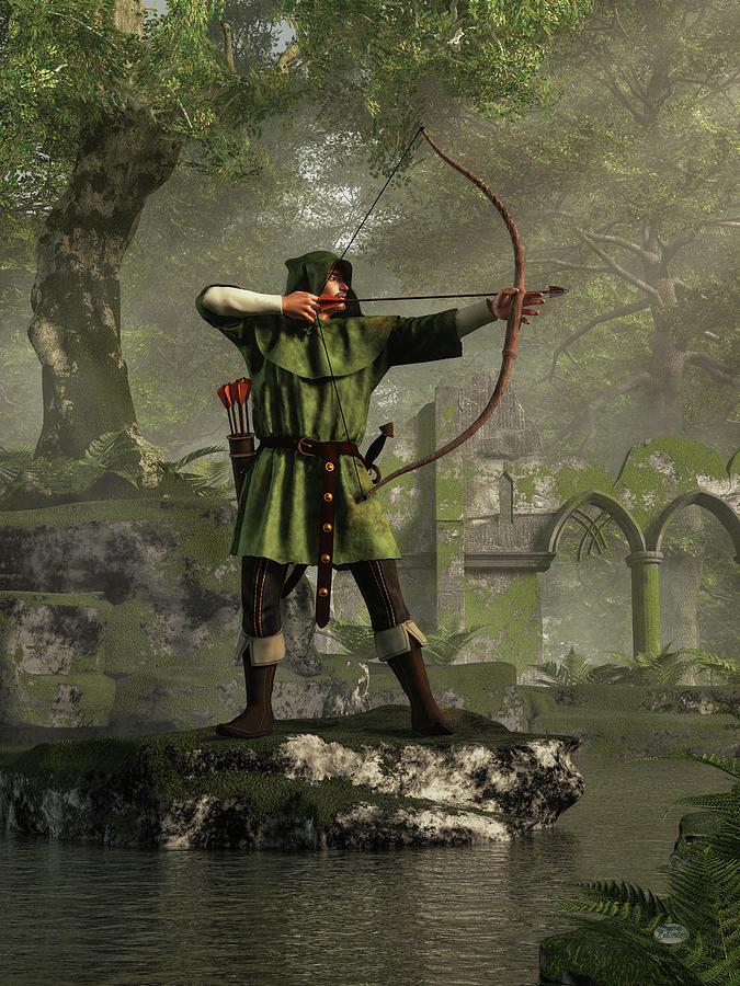 Robin Hood Digital Art