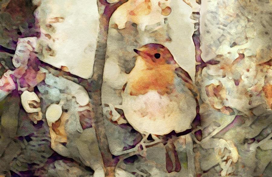 Robin Song Of Spring Digital Art
