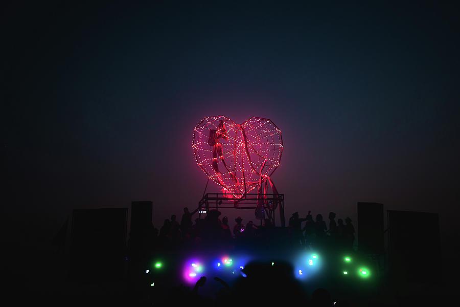 Festival Photograph - Robo Heart At Burning Man by Julius Thomas