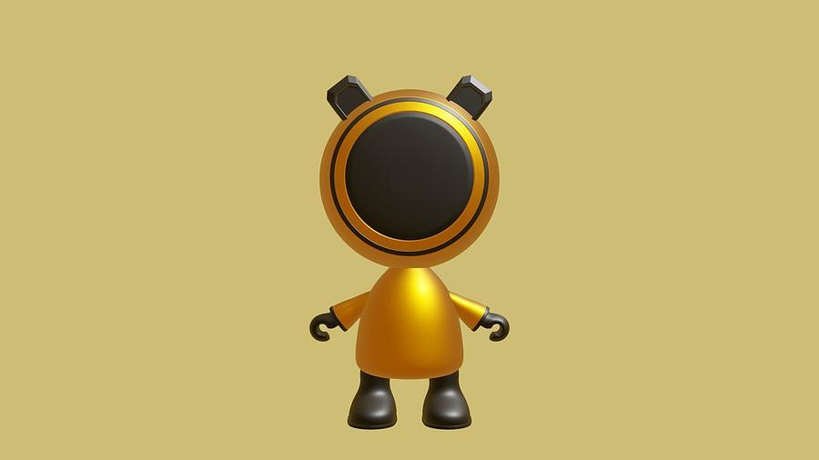 Robot Digital Art - Robot Character RC1 by Sandeep Choudhary