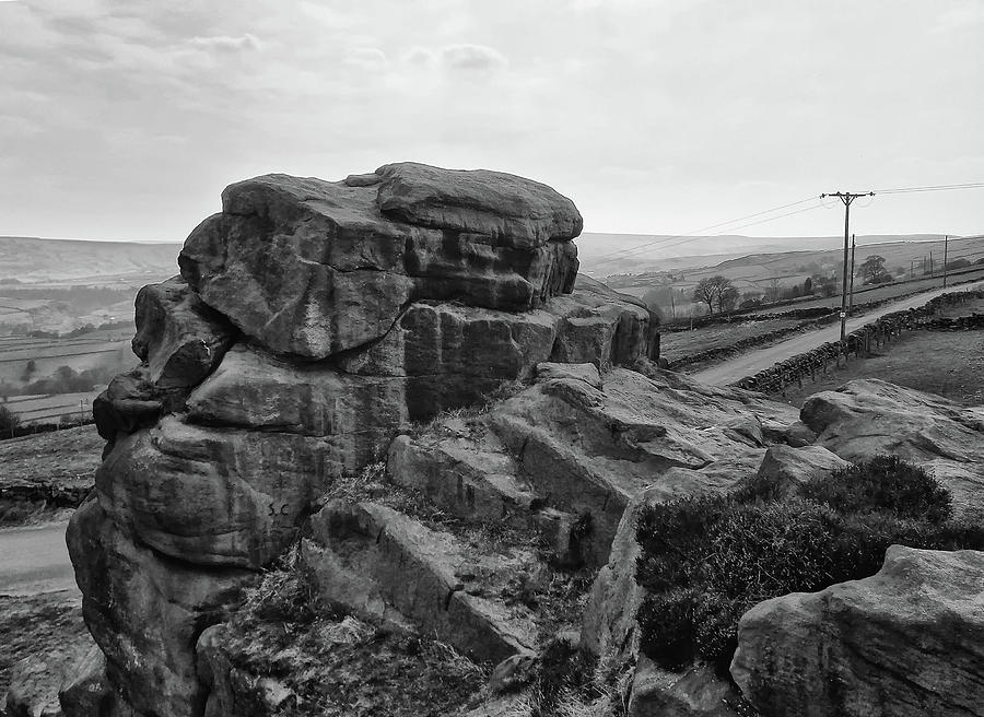 rock and road by Philip Openshaw