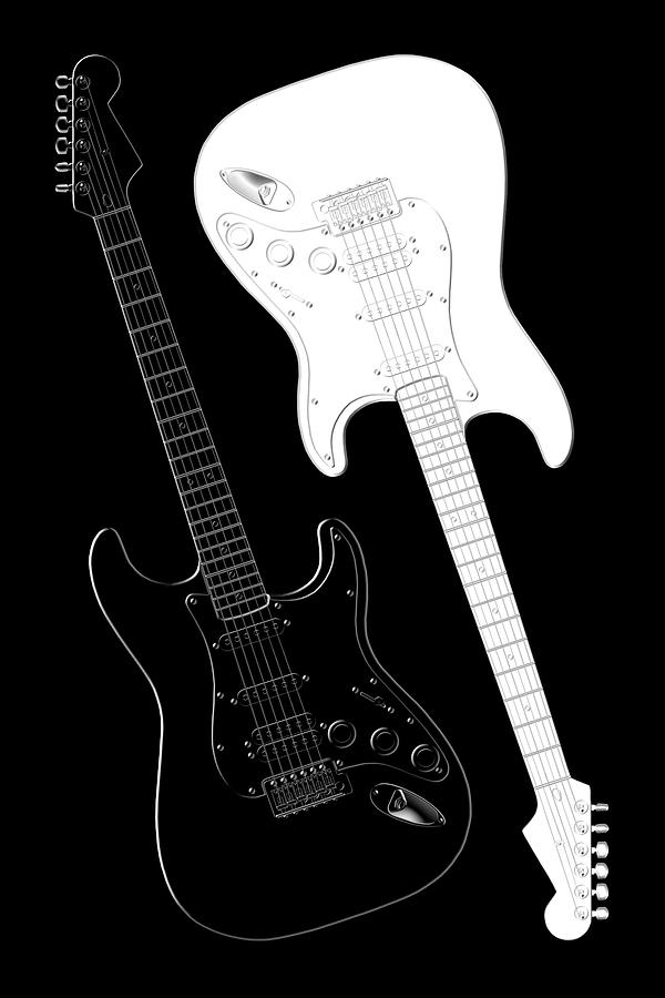 Rock And Roll Digital Art - Rock and Roll Yin Yang by Mike McGlothlen