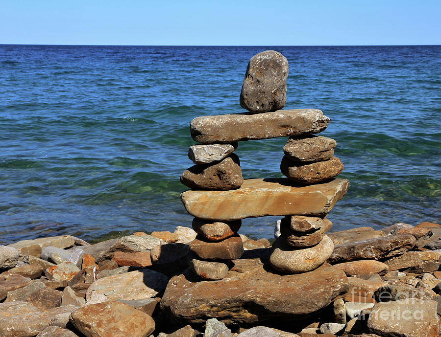 Rock Cairn Of Lake Huron Photograph By Marty Fancy