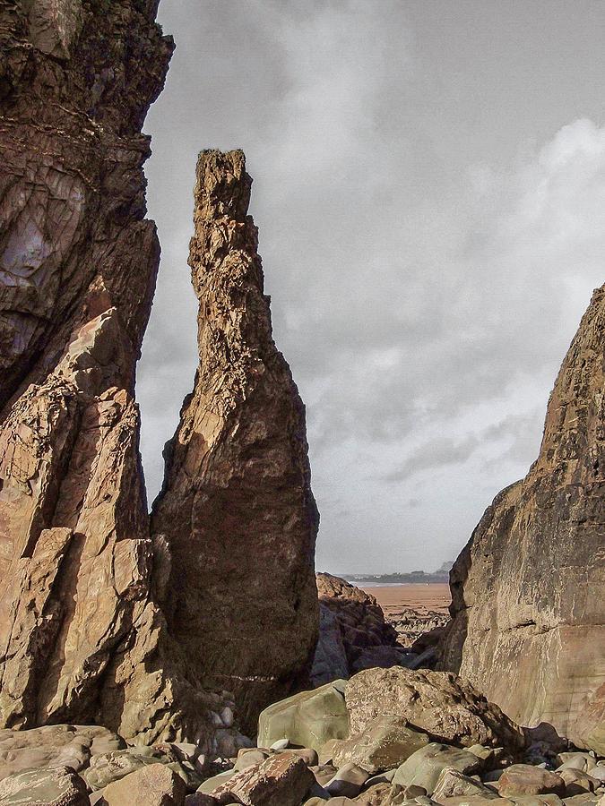 Rock Stack Sandymouth Beach Cornwall 2020 Re-edit Photograph