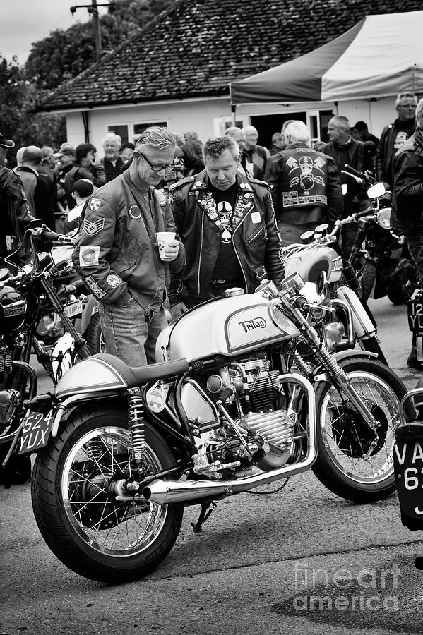 Rockers and a 1960 Triton Motorcycle by Tim Gainey