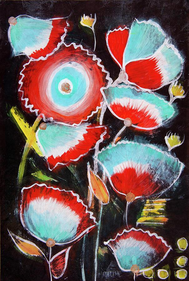 Rocket Garden Painting by Madeline Dillner