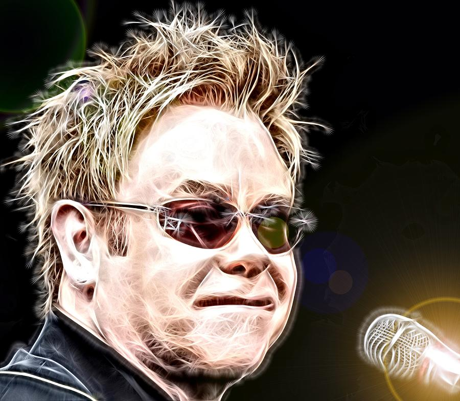 Elton John Digital Art - Rocket Man by Fred Larucci