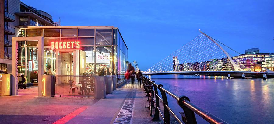 Dublin Photograph - Rockets Diner in the Dublin Docklands by Barry O Carroll