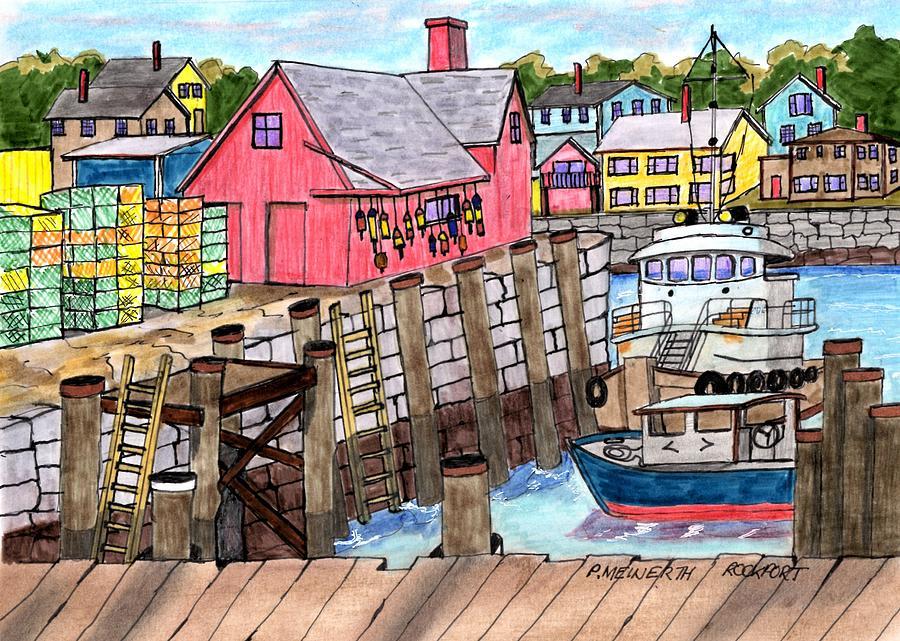 Rockport Massachusetts Drawing