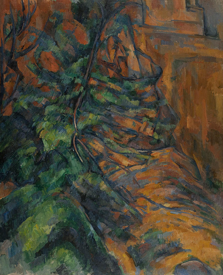 Rocks and Branches at Bibemus by Paul Cezanne