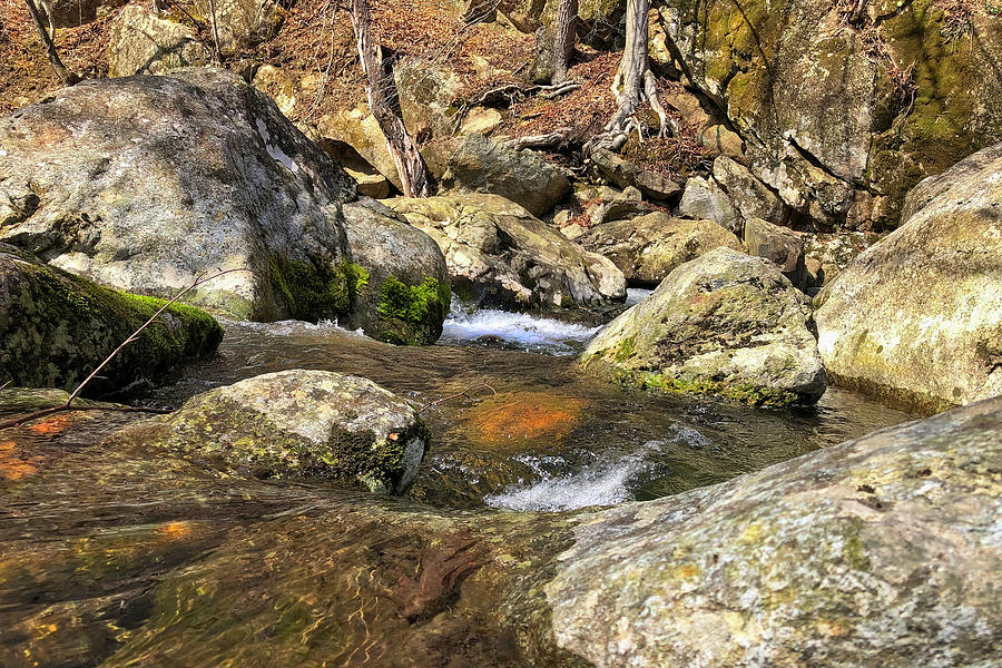Rocks And Flowing Water Photograph