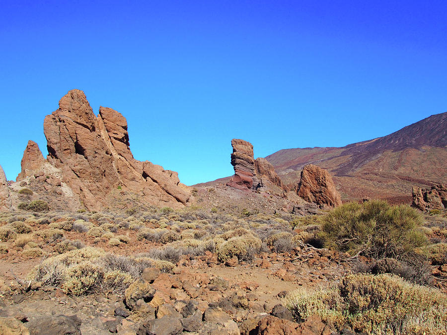 rocks and mountain - tenerife by Philip Openshaw