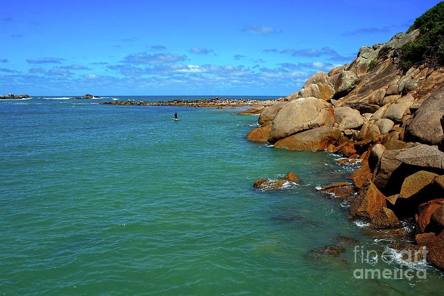 Rocks And Water, Horseshoe Bay Port Elliot, Adelaide By Kaye Menner Photograph