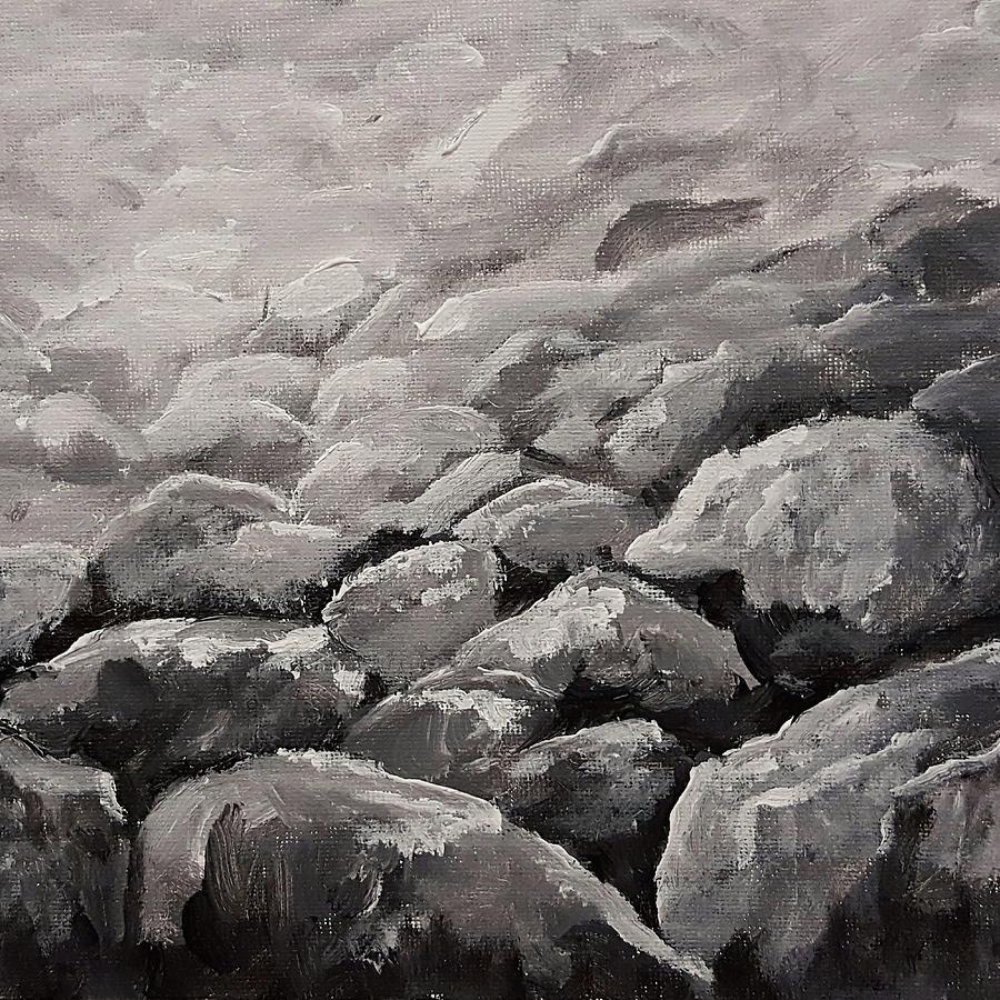 Rocks Black and White                   20204 by Cheryl Nancy Ann Gordon