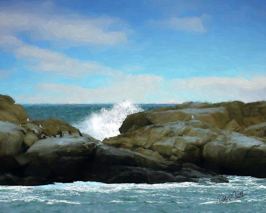 Rocky Maine seascape. by Rusty R Smith