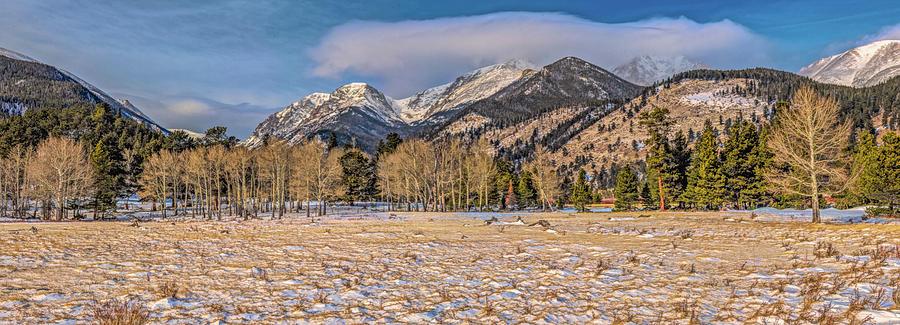Rocky Mountain National Park Winter Panorama by Marcy Wielfaert