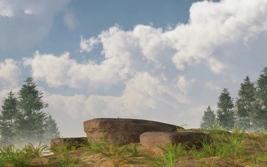 Rocks Digital Art - Rocky Rise by Mindscape Arts