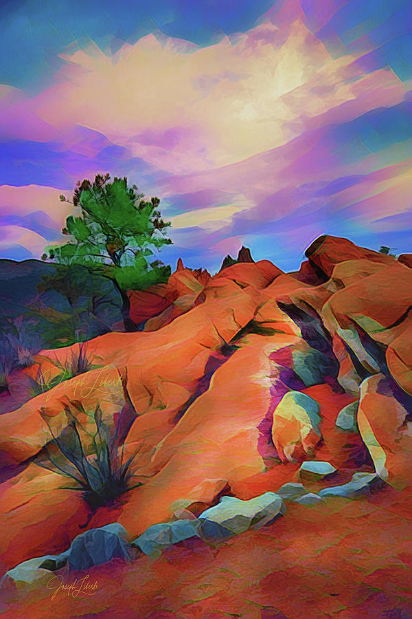 Inspiring Digital Art - Rocky_Ridge_20210307 by Joseph Liberti