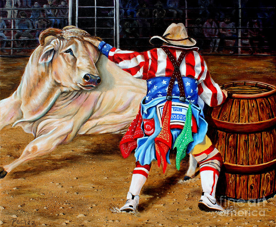 Image result for Rodeo clown""