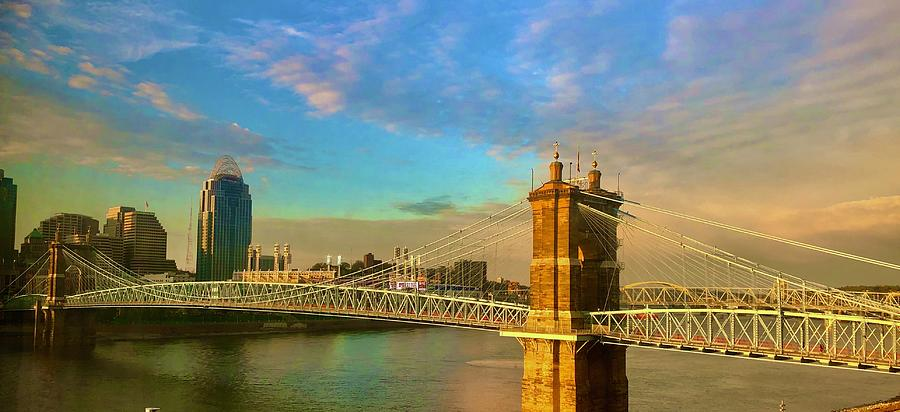 Roebling Bridge Cincinnati Photograph
