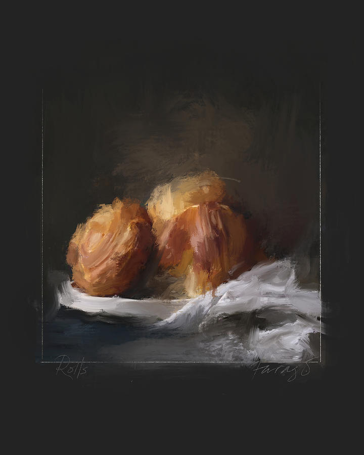 Rolls Painting by Peter Farago