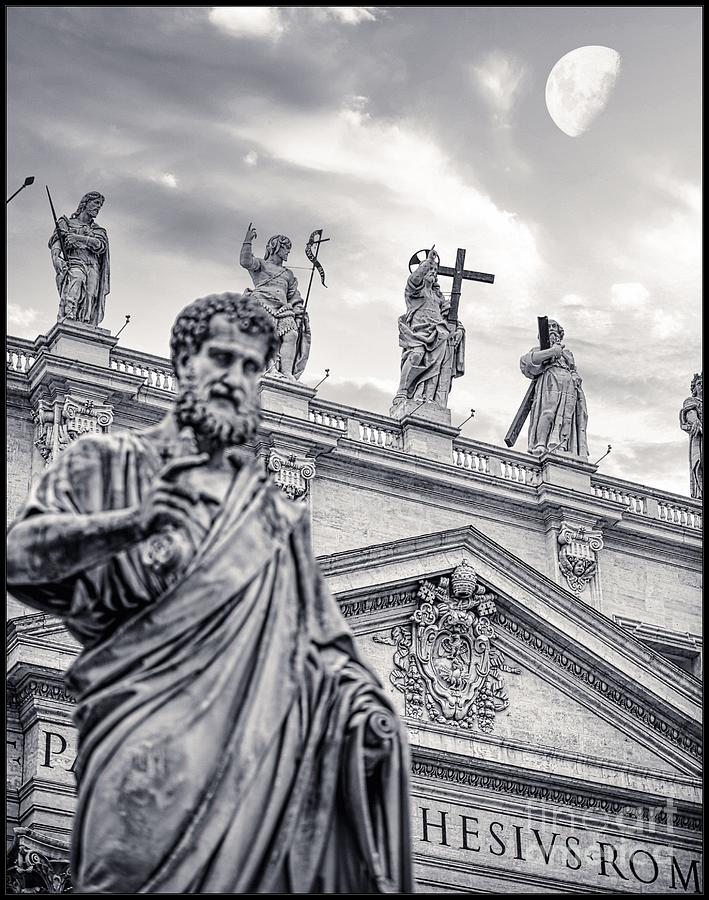 Vatican City Photograph - Roma and Vatican - Statue of St Peter holding the key to the gates of heaven by Stefano Senise