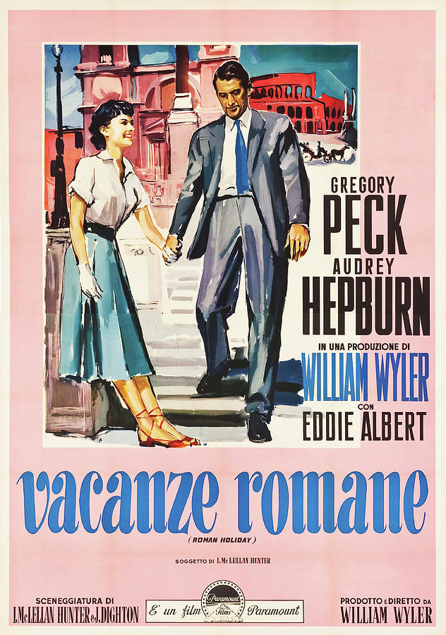 roman Holiday, With Gregory Peck And Audrey Hepburn, 1953 Mixed Media