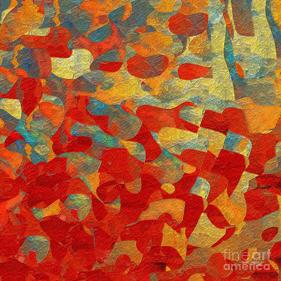 Red Painting - Romans 12 21. Overcome. by Mark Lawrence