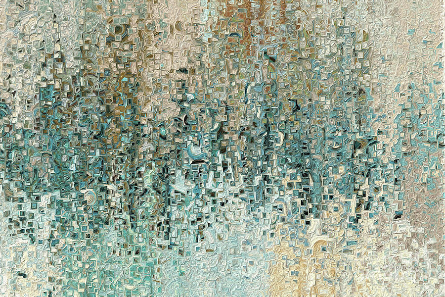 Blue Painting -  Romans 8 39. Revealed In Jesus by Mark Lawrence