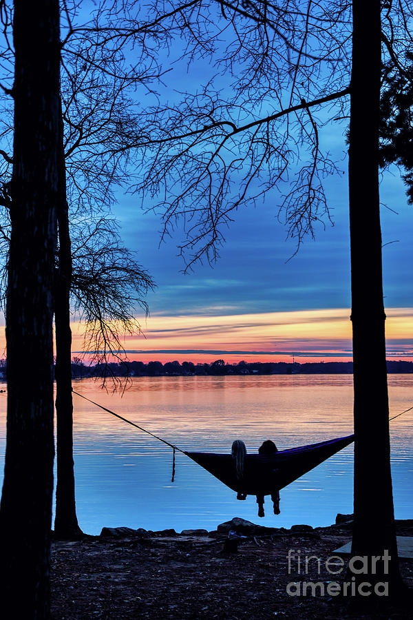 Romantic Sunset at the Lake by Amy Dundon