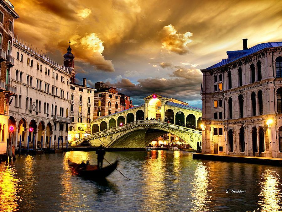 Italy Photograph - Romantic Venice Sunset  by Elizabeth Giupponi