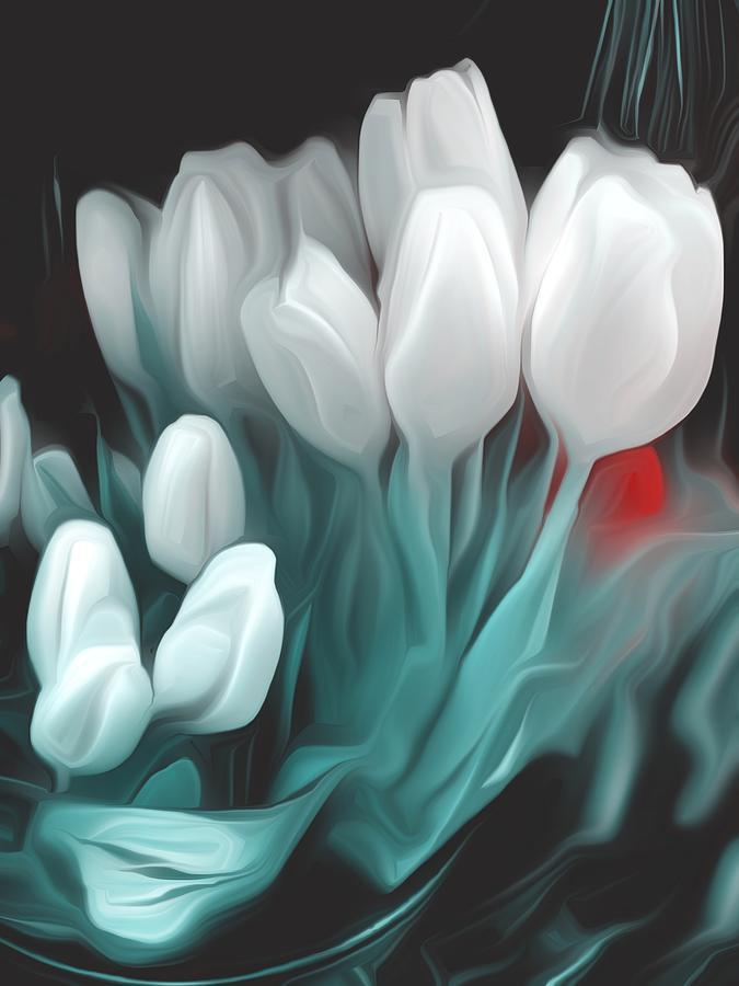 Romantic White Tulips Photograph