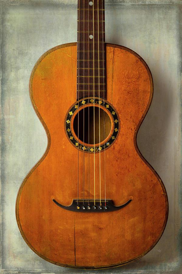 Guitar Photograph - Romantic Worn Guitar by Garry Gay