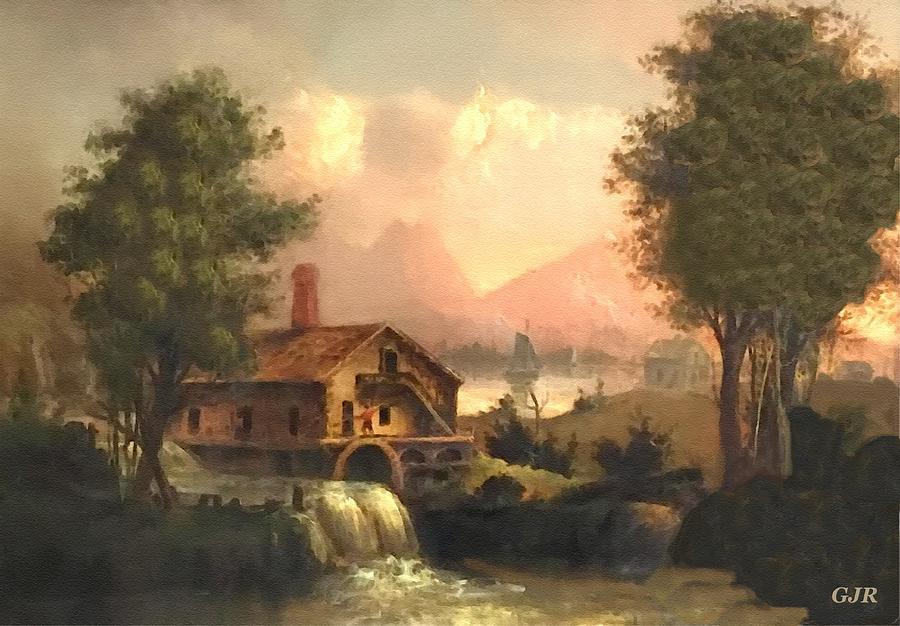 Romanticism Landscape Scene Near Bedfordhurst After A 19th Century Original Painting. L A S Digital Art