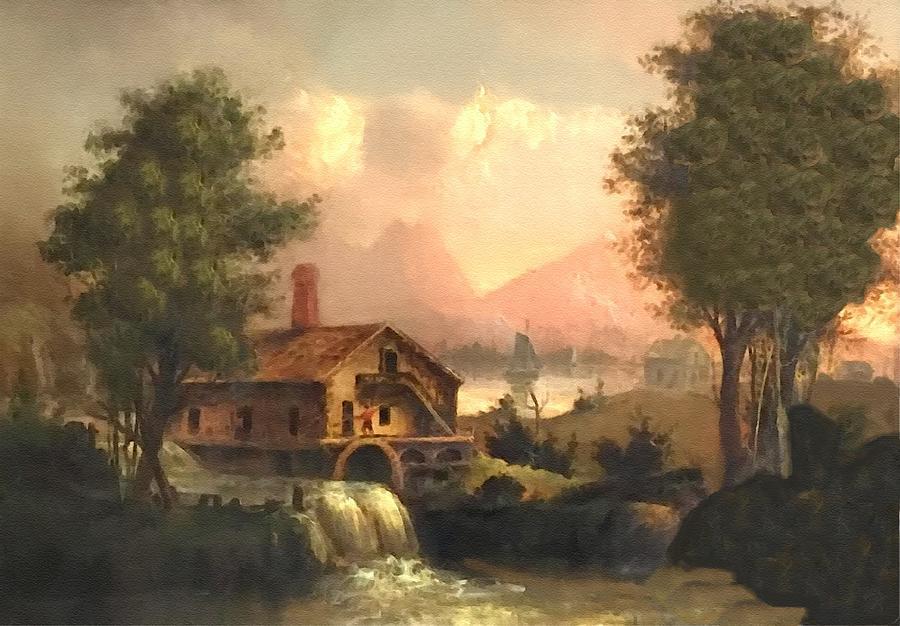 Romanticism Landscape Scene Near Bedfordhurst After A 19th Century Original Painting. L B Digital Art