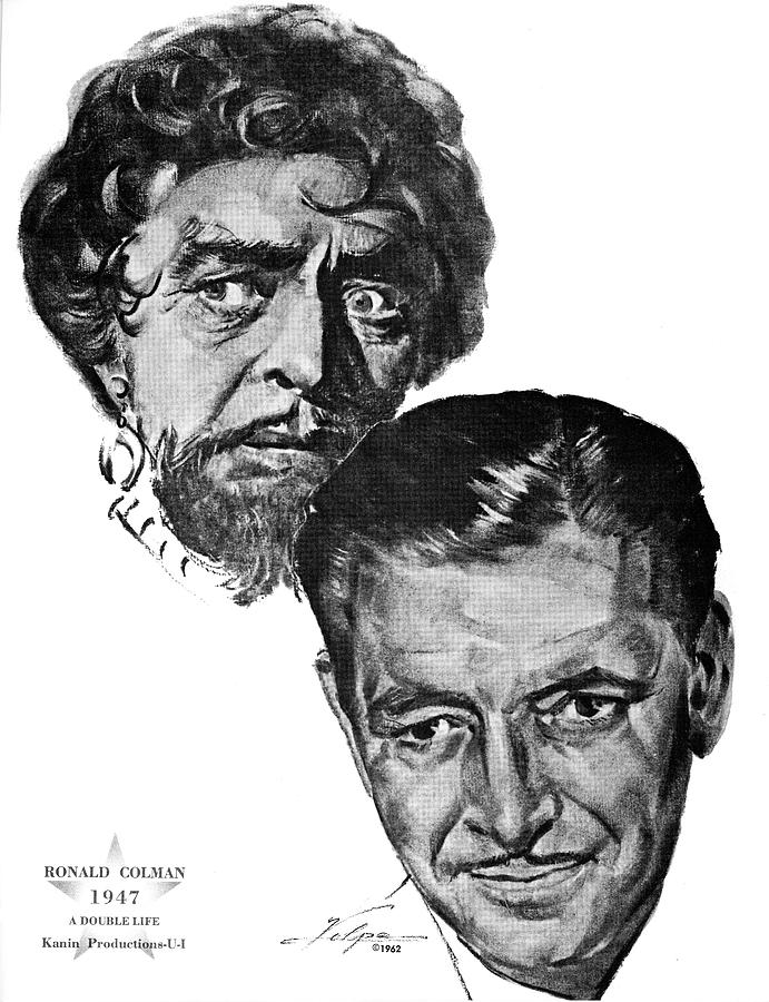 Ronald Colman By Volpe Drawing