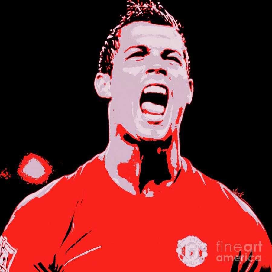Ronaldo Painting - Ronaldo First Time by Jack Bunds