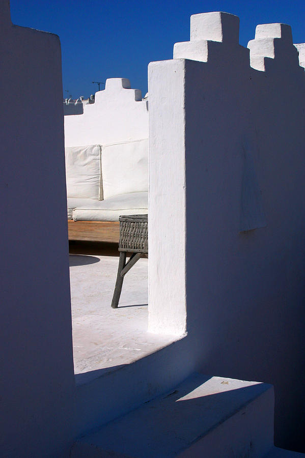 Architecture Photograph - Roof Terrace at Daylight in Tangier Morocco by PIXELS  XPOSED Ralph A Ledergerber Photography