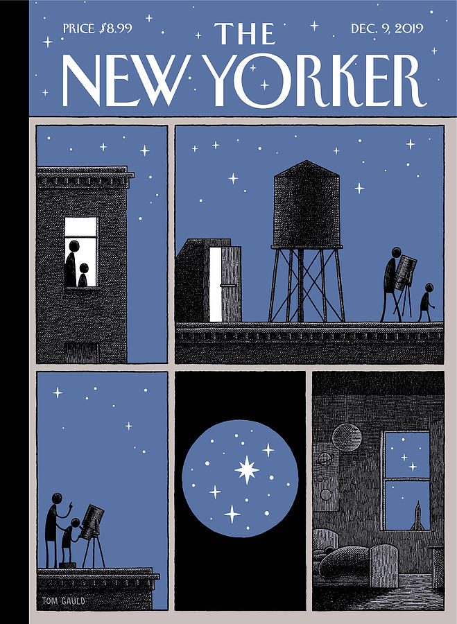Rooftop Astronomy Drawing by Tom Gauld