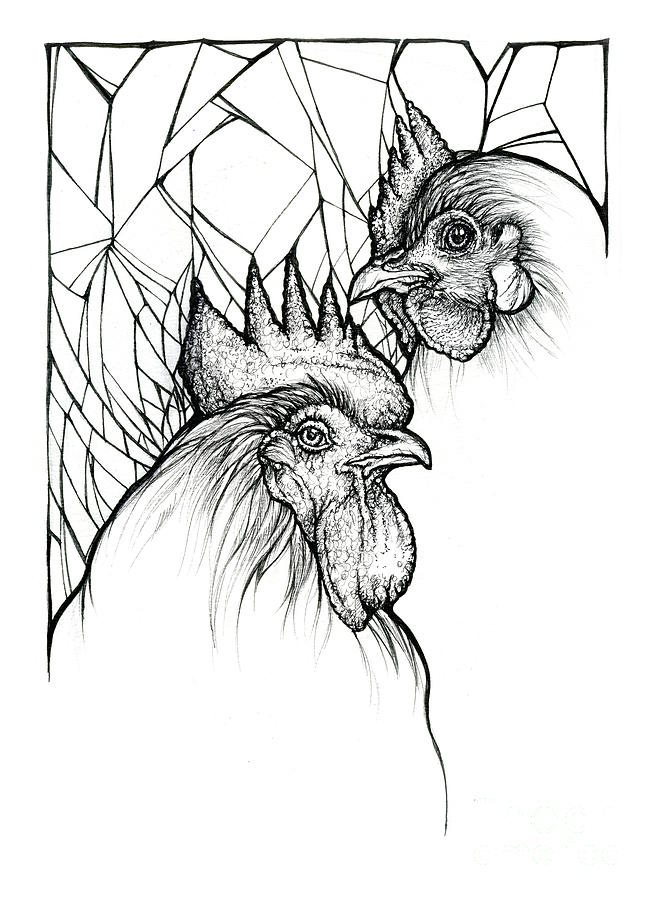 Rooster and Hen by Angel Ciesniarska