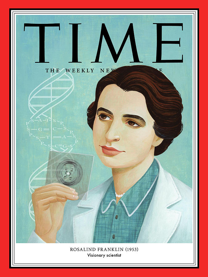 Time Photograph - Rosalind Franklin, 1953 by Illustration by Jody Hewgill for TIME