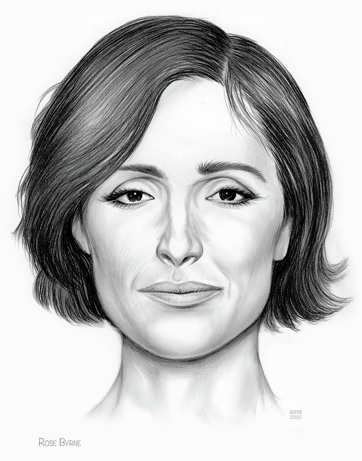 Rose Byrne Drawing - Rose Byrne by Greg Joens