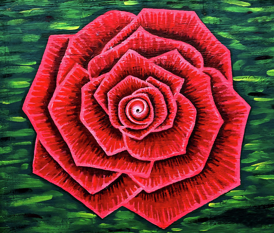 Rose Painting - Rose by Far I Shields