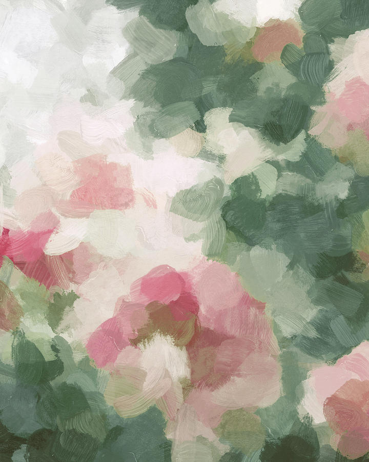 Abstract Painting - Rose Garden by Rachel Elise