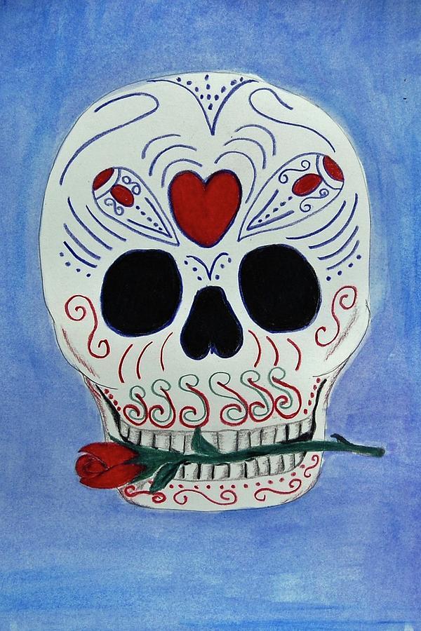 Rose Mixed Media - Rose Skull by Charla Van Vlack