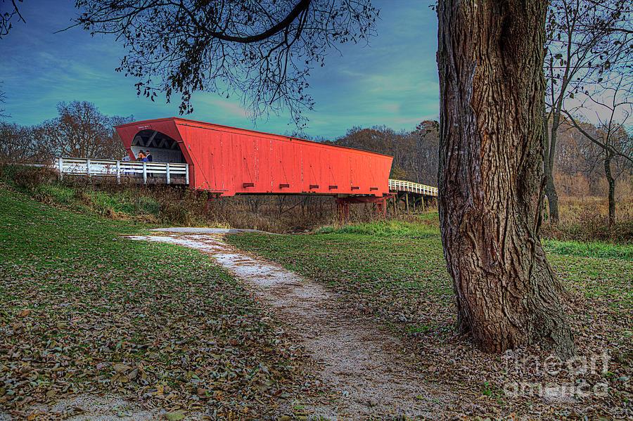 Travel Photograph - Roseman Covered Bridge by Larry Braun