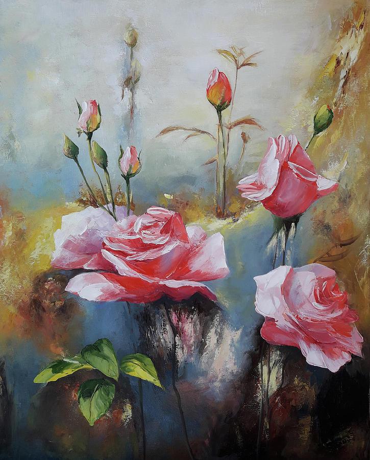 Pink Painting - Roses by Janna balyan