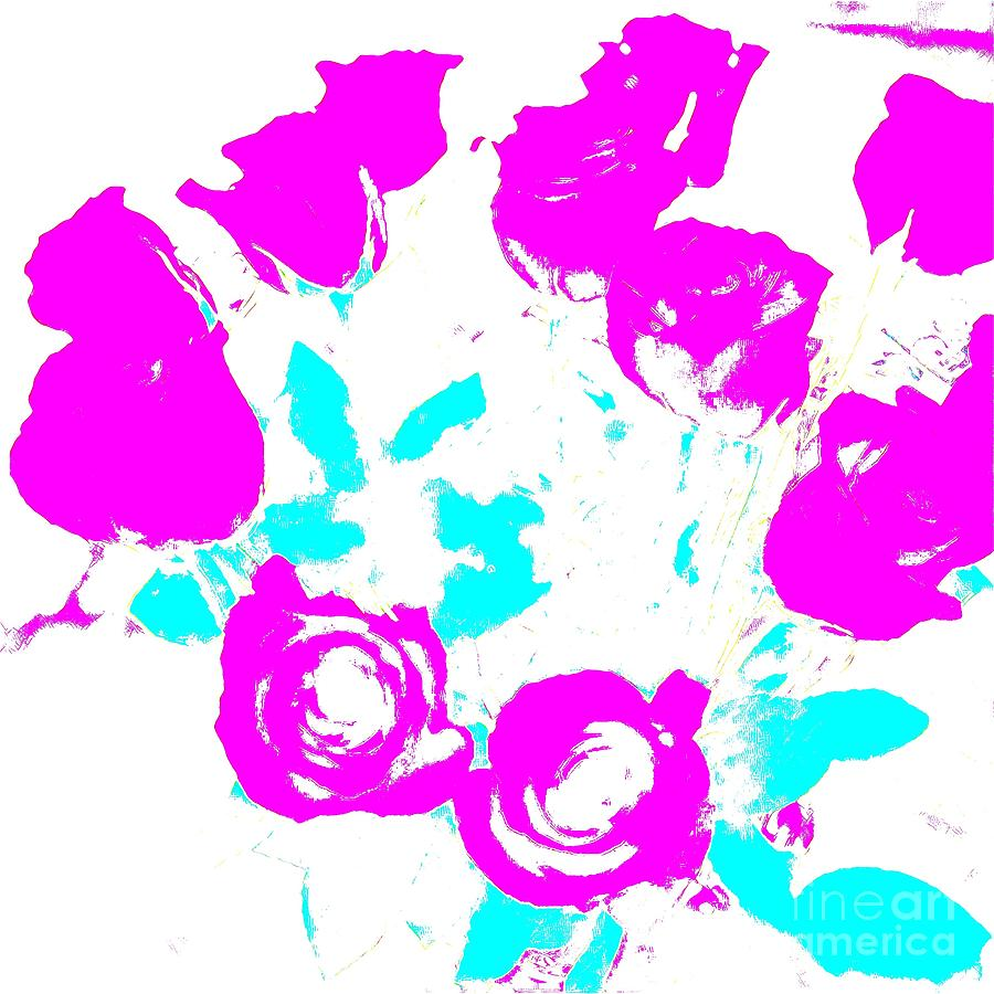 Roses Digital Art - Roses  by Karen Francis