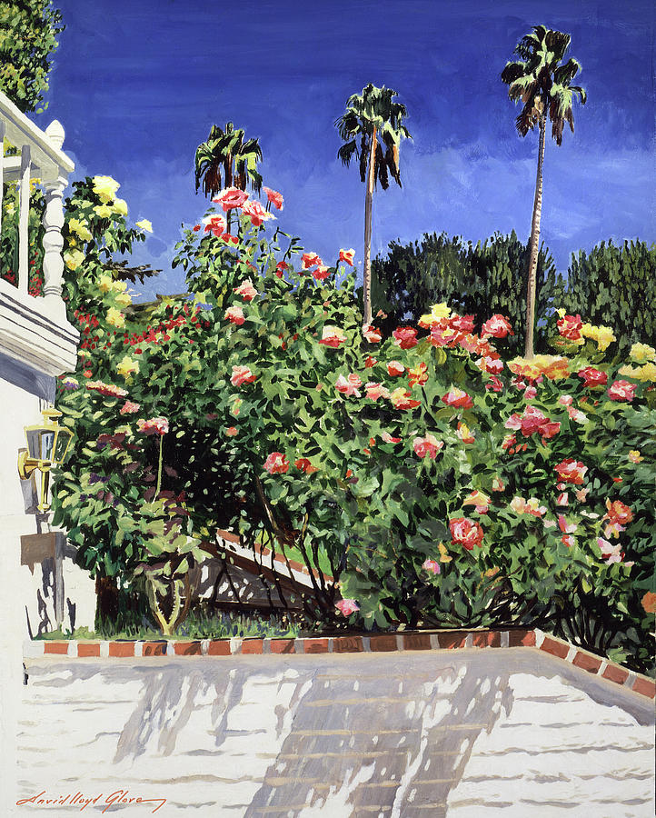 Roses On The Stairway Painting
