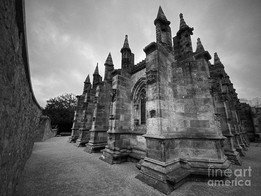 Rosslyn Chapel Corner View Photograph